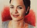 portret angeliny jolie pastelami suchymi