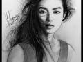 portret rysowany węglem 3