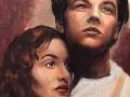 portret titanic leonardo dicaprio kate winslet pastel suchy