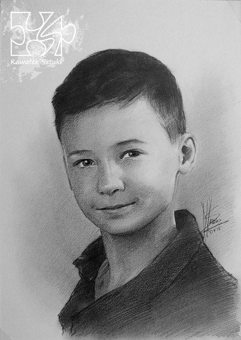 portret narysowany ołówkiem 4