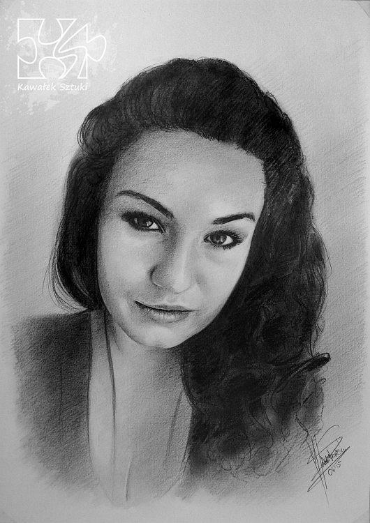 portret narysowany ołówkiem 5