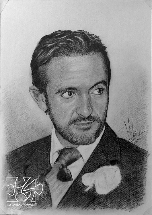 portret narysowany ołówkiem 7