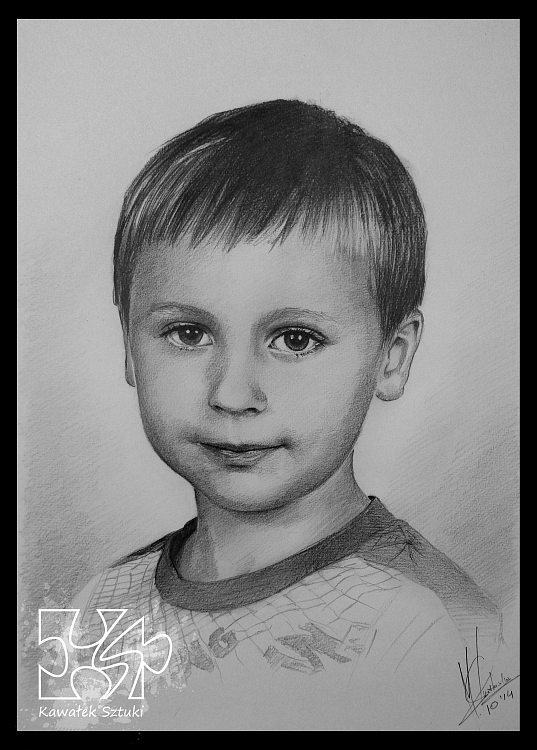 portret narysowany ołówkiem 17