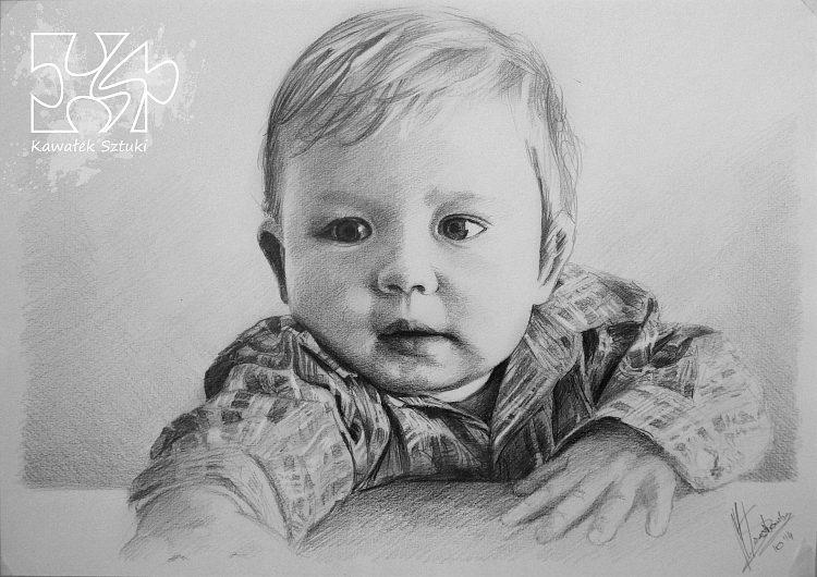 portret narysowany ołówkiem 8