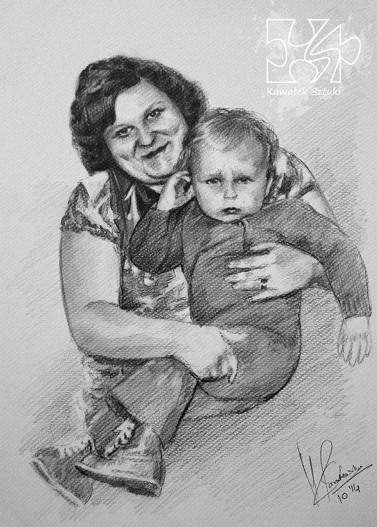 portret narysowany ołówkiem 25