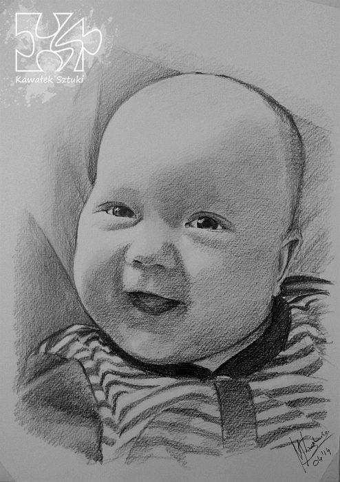 portret narysowany ołówkiem 30