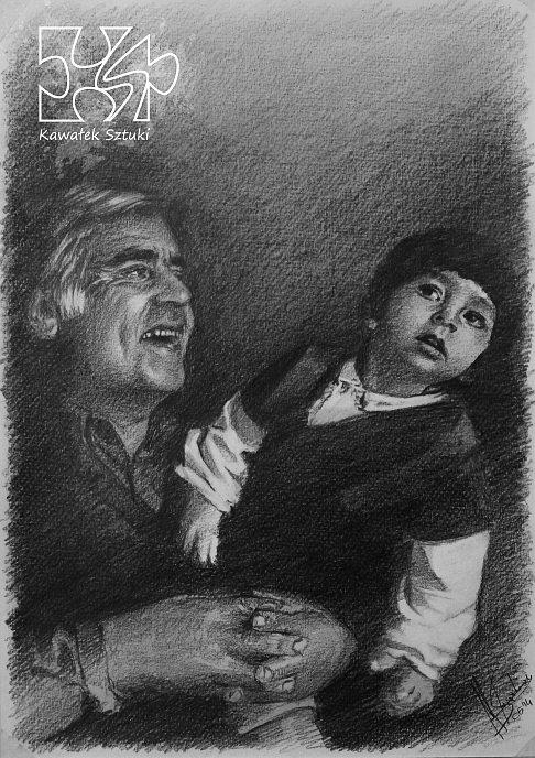 portret narysowany ołówkiem 9