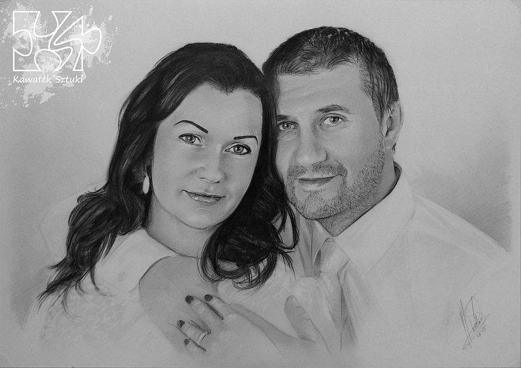 portret narysowany ołówkiem 12