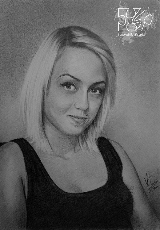 portret narysowany ołówkiem 15
