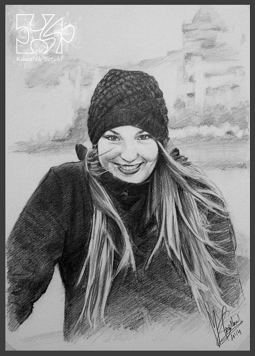 portret narysowany ołówkiem 1
