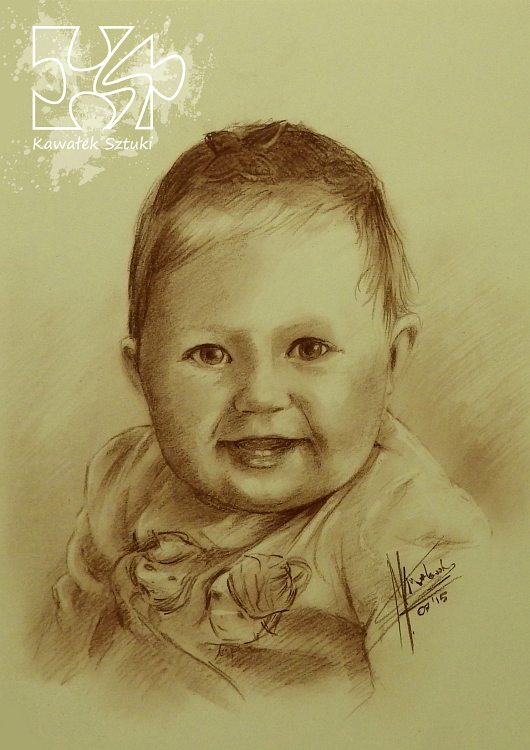 portret narysowany sepią 6
