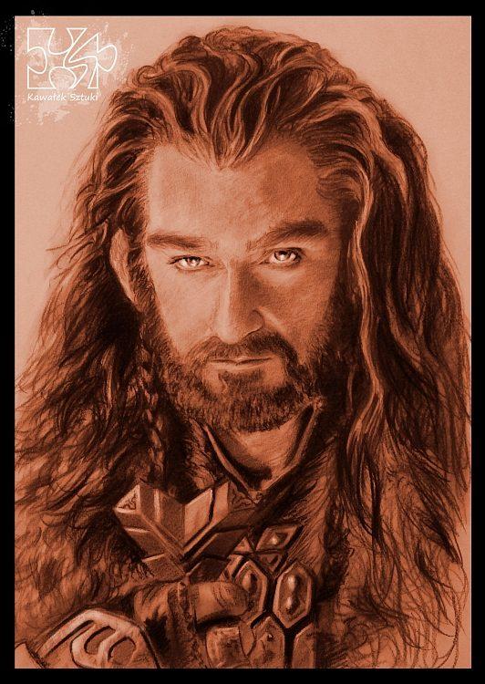 portret thorin debowa tarcza hobbit