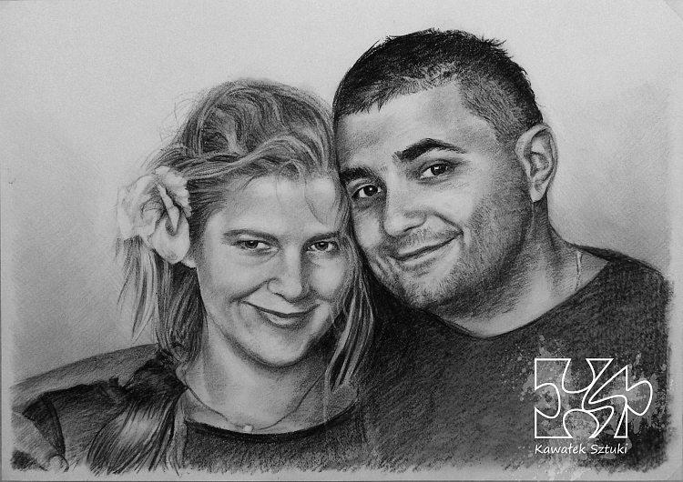 portret narysowany węglem 6