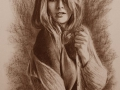 portret narysowany sepią 4