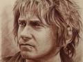 portret hobbit sepia