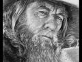 portret gandalf narysowany węglem 3