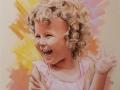 Portret wykonany na zamowienie dziecko dziewczynka pastel suchy w kolorze B2