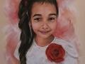 Portret wykonany na zamowienie dziewczynka dziewczyna w kolorze pastel suchy