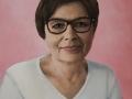 Portret wykonany na zamowienie w kolorze akryl na płótnie lnianym kobieta malarstwo