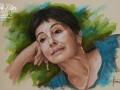 Portret wykonany na zamowienie w kolorze pastel suchy kobieta