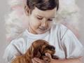 portret na zamówienie pastelami suchymi chłopiec 65x50
