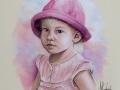 portret na zamówienie pastelami suchymi dziewczynka 65x50 2