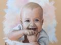 portret na zamówienie pastelami suchymi bobas 65x50