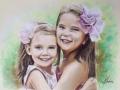 portret na zamówienie pastelami suchymi dziewczynki 65x50