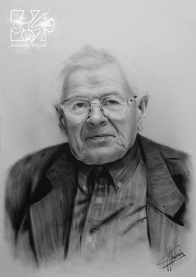 portret mężczyzny farbami olejnymi w technice suchego pedzla A2 816