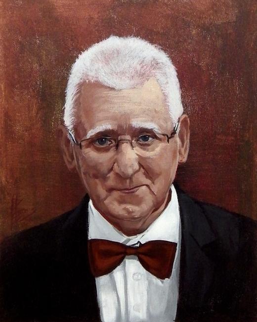 Portret farbami akrylowymi na płótnie malarstwo 40x50 na zamowienie