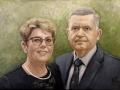 portret na zamowienie akryl na plotnie 60x40 para