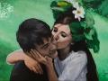 Portret na zamowienie akryl na płótnie w kolorze malarstwo 40x60