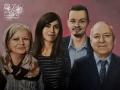 Portret rodzinny ślubny malarstwo w kolorze akryl na płótnie 60x80