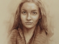 portret dziewczyny w sepii