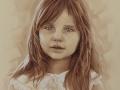 portret dziewczynki dziecka w sepii 1