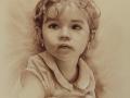 portret dziewczynki dziecka w sepii 2